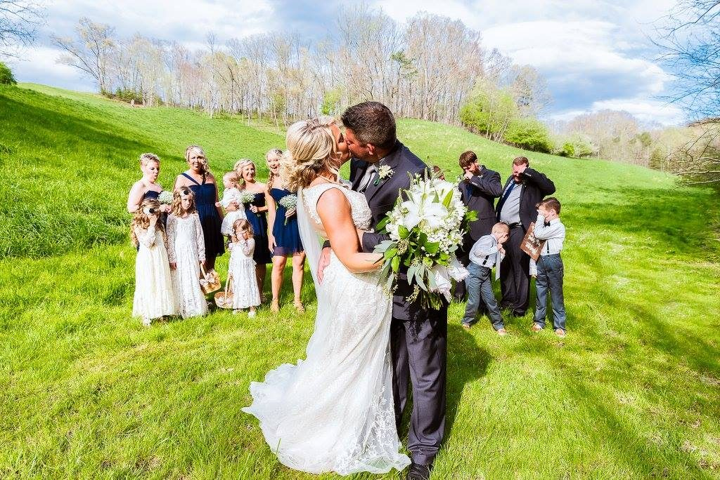 Smoky Mountain wedding, weddings in the Smokies, Smoky Mountain wife, Smoky Mountain groom, Smoky Mountain field, summer Smoky Mountain, Spring Smoky Mountain